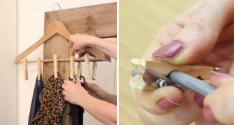 Six ingenious ways to use clothespins ---  far away from a clothesline!