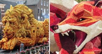 Carri ricoperti da migliaia di dalie: ecco a voi lo straordinario festival annuale di questa cittadina olandese