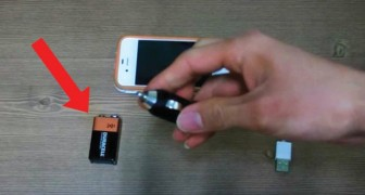 How to charge a smartphone using a common 9-volt battery!