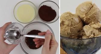 Elle mélange 3 ingrédients seulement et crée un glace au café qui va vous faire saliver
