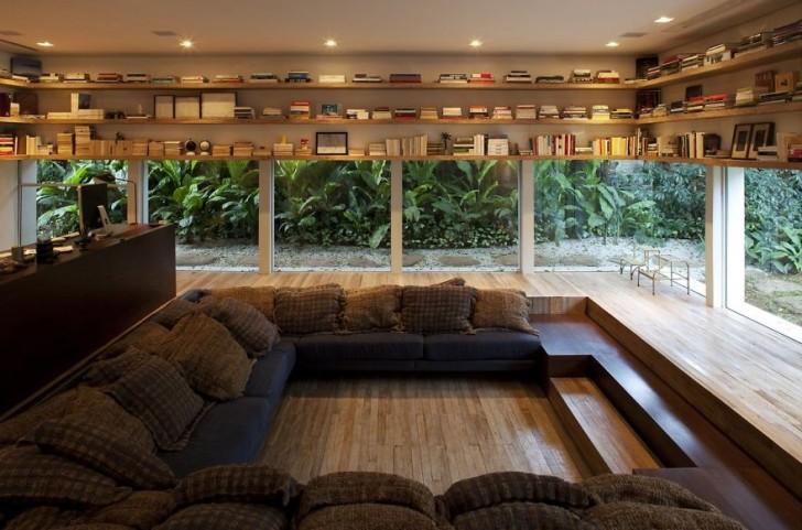 Hochwertig #1 Ein Elegantes Lesezimmer Mit Glaswänden
