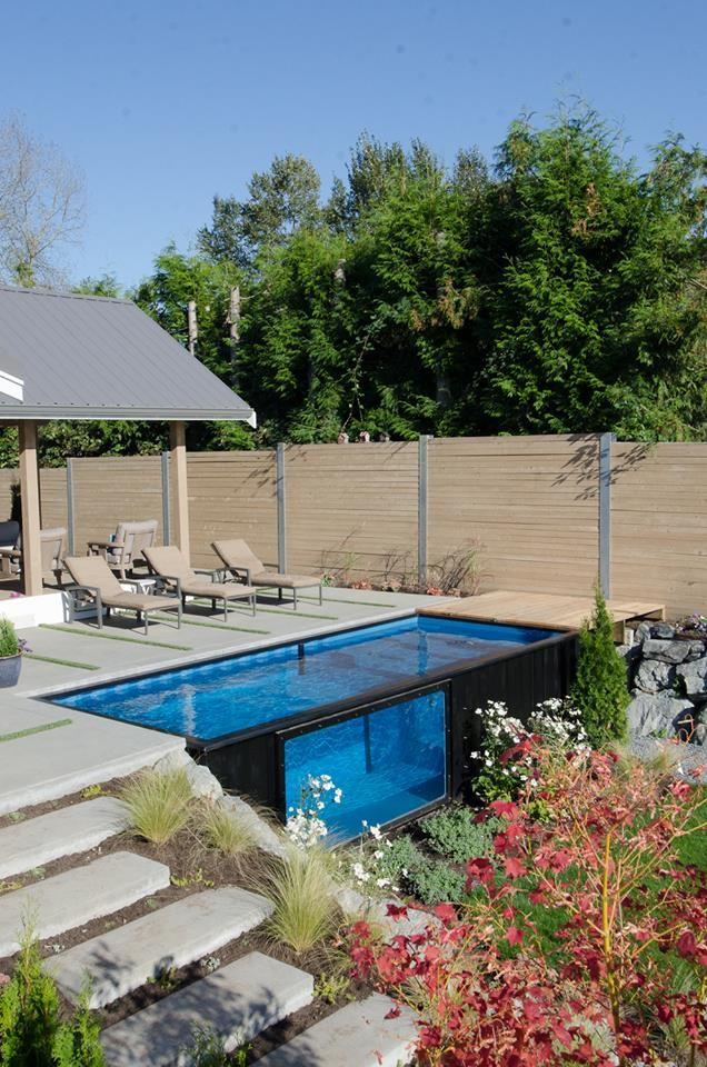 zwembaden gemaakt van zeecontainers zijn de nieuwste. Black Bedroom Furniture Sets. Home Design Ideas