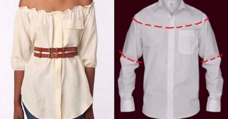 10 modi per trasformare le camicie da uomo in vestiti femminili  qual è  quello che proverete a fare  5a4810fb7212