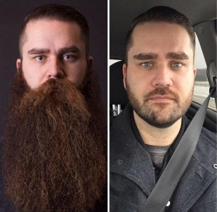 met en zonder baard: 16 foto's van mannen die compleet veranderd