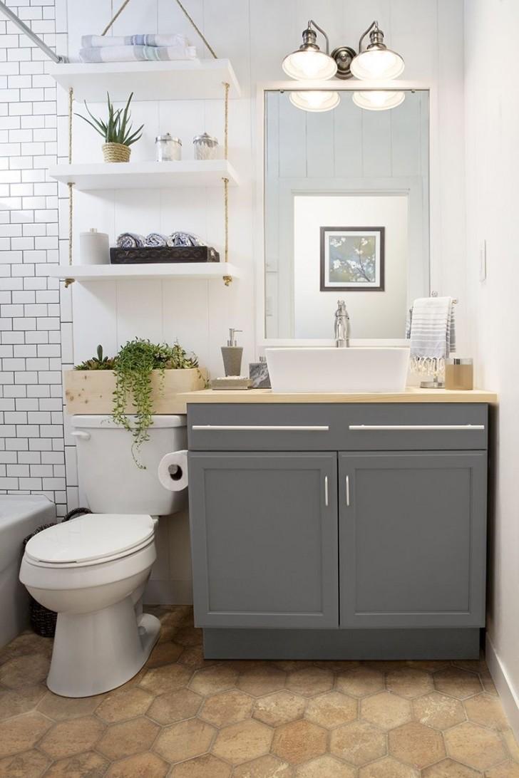 34 geweldige ideeën om een kleine badkamer in de mooiste ruimte van ...
