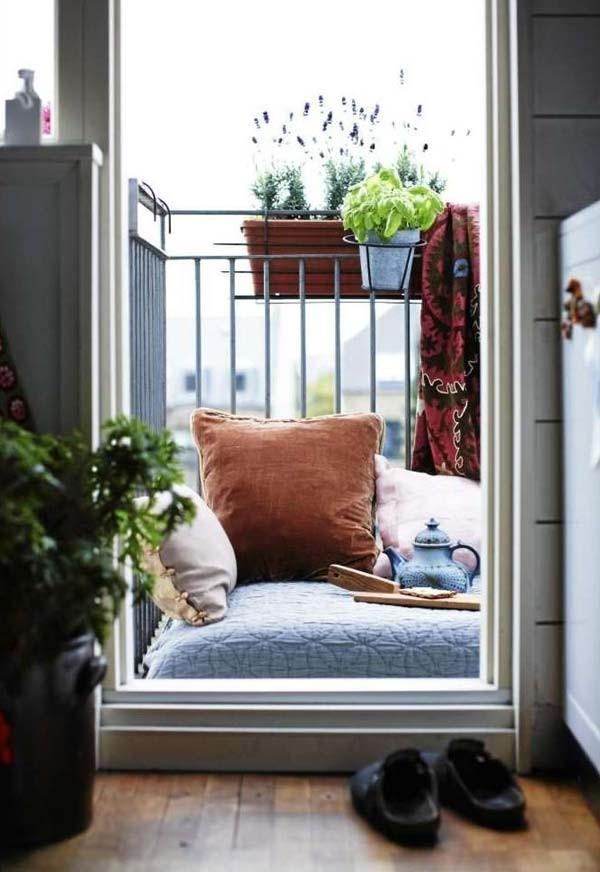 20 Brillante Ideen Um Einen Kleinen Balkon In Einen Einladenden Und