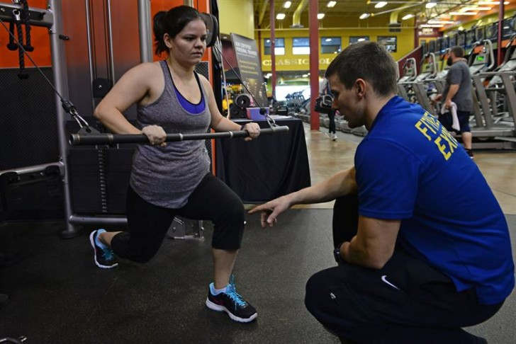 Flirten op sportschool