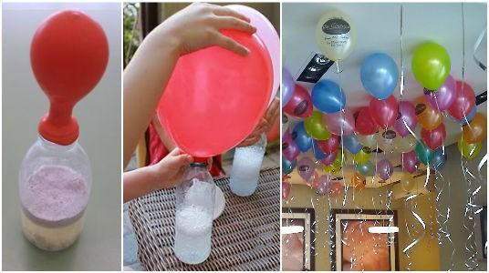 voici l 39 astuce pour gonfler les ballons sans utiliser d 39 h lium. Black Bedroom Furniture Sets. Home Design Ideas