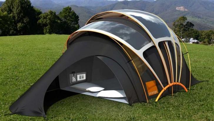 De zonnepanelen welke de gehele structuur van de tent bedekken maken er absoluut een bijzondere tent van ze nemen zonne energie op en zijn in staat deze ... & Beangstigt De Camping Je? Bekijk Hier De Tent Die Licht Warmte ...