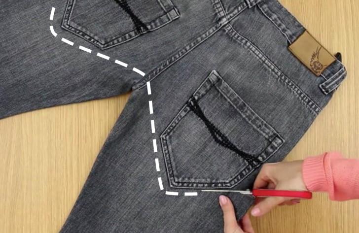 339b65691c8 Comment transformer un vieux jean en une ceinture multi-usage en 2 minutes  et sans couture