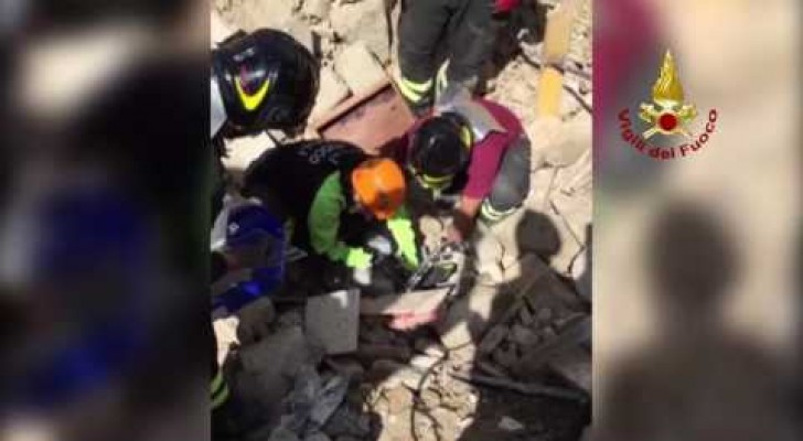 16 days after an earthquake --- they hear noises under the rubble!