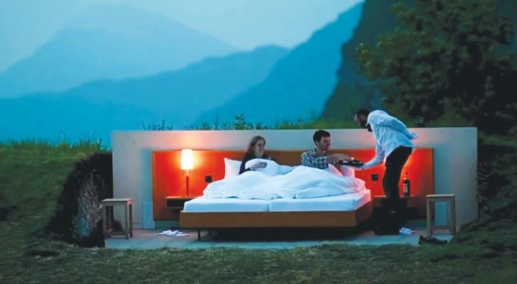 Zou jij betalen om in de open lucht te slapen? Dat is het concept van deze Zwitserse hotelketen...