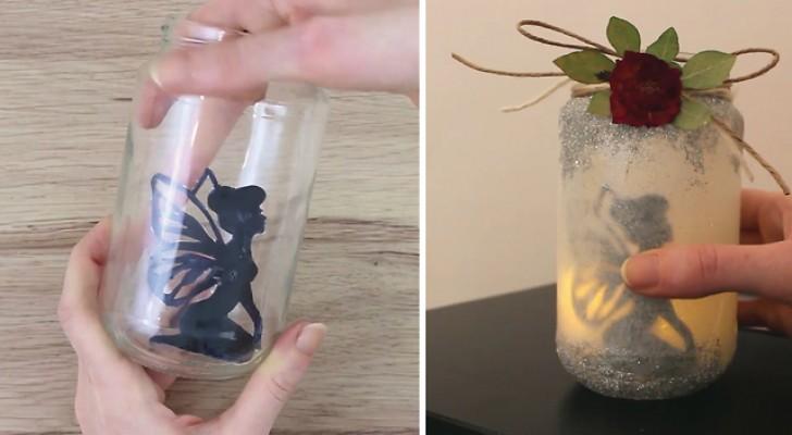 Elle crée en quelques étapes une lanterne: quand elle éteint la lumière, l'effet est fascinant!