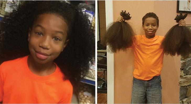 Una sua amica perse i capelli a causa della chemio: questo bambino fa una scelta esemplare