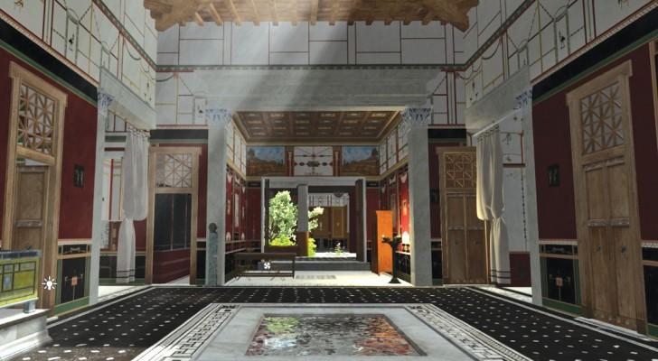Ricostruita in 3D una casa di Pompei: godetevi questo stupendo viaggio nel tempo