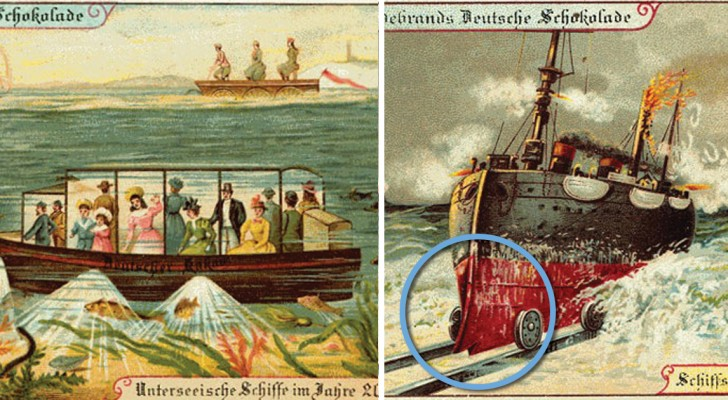 Comment nos ancêtres voyaient les années 2000? Ces cartes postales du début du 20e siècle vont vous faire sourire