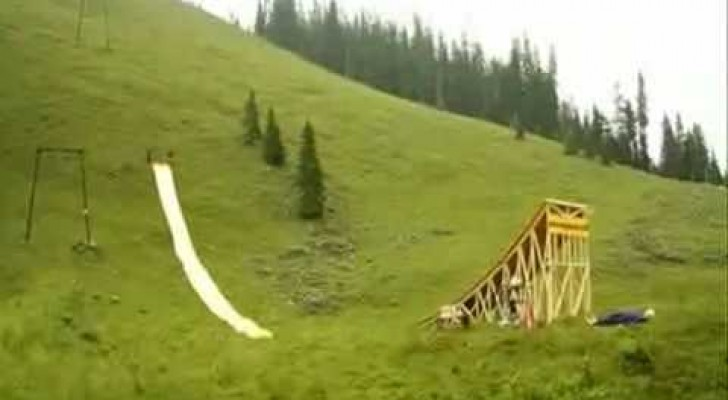 The crazier water slide