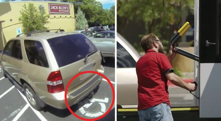 Olha o que acontece com essa pessoa que estaciona no local para deficientes; a vingança vai lhe ensinar uma bela lição