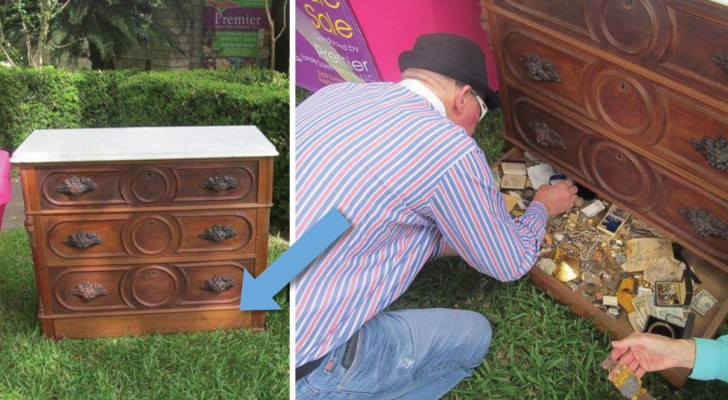 Compra un mobile al mercatino e scopre un vano segreto: al suo interno... un vero tesoro!