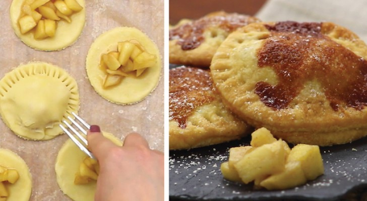 Mouthwatering homemade mini apple pies!