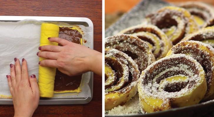 Nutella-Rolle: so wird dieser einfache und lustige Kuchen gemacht