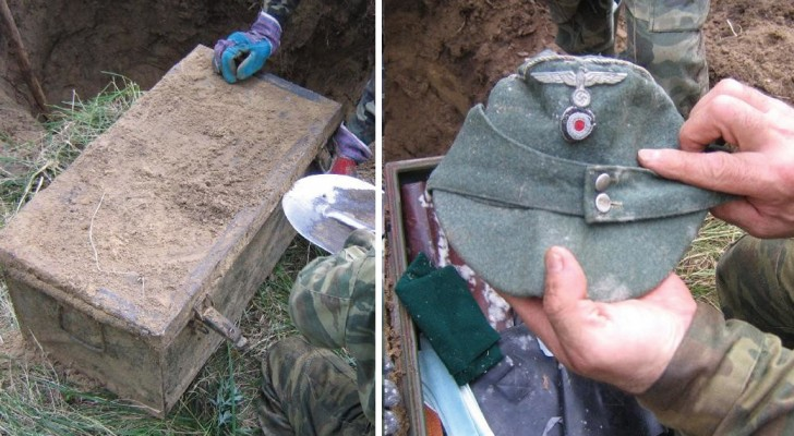 Hij Graaft Een Gat En Vindt Een Metalen Kist Waar Een 'Schat' Uit De Tweede Wereldoorlog In Zit