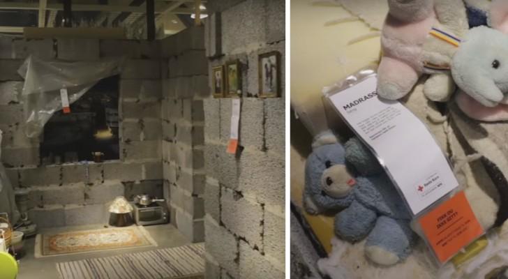 Ricreano una casa siriana all'interno del negozio IKEA: il contrasto fa venire i brividi