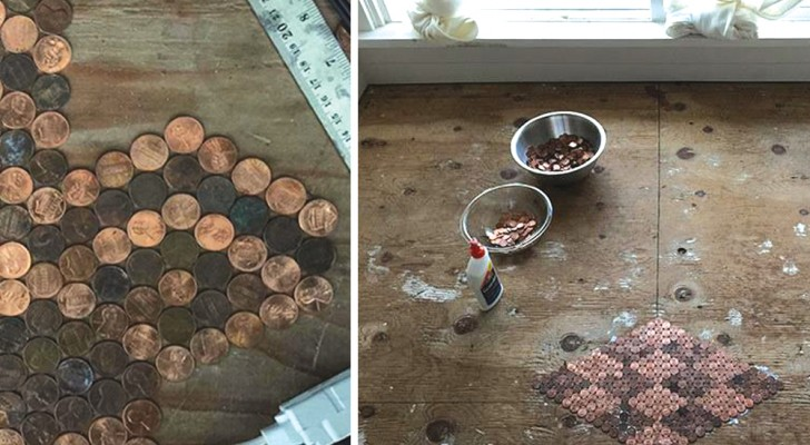 A stunning DIY Penny Floor design!