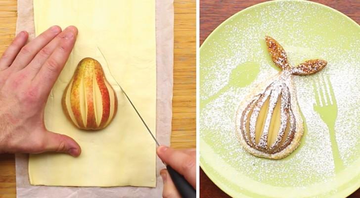 Ecco come trasformare una semplice pera in un dessert delizioso per la vista e il palato