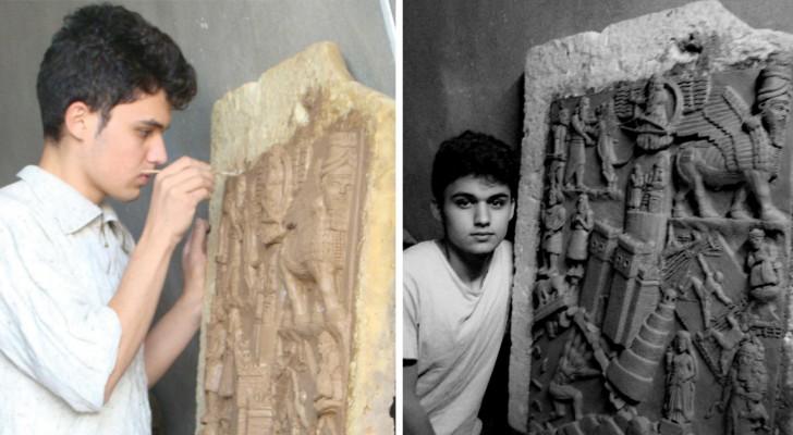 Combattere l'ISIS... con l'arte: ecco il ragazzo che crea copie perfette delle opere distrutte