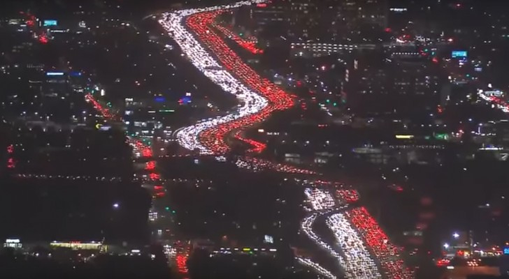 One of the longest traffic jams in LA history!