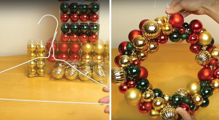 Il crée une guirlande de Noël à partir d'un cintre: voici le tutoriel facile
