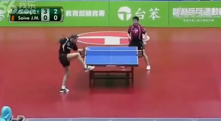 The best game of table tennis ever