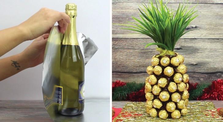 Como criar um abacaxi de chocolate usando uma garrafa de espumante!