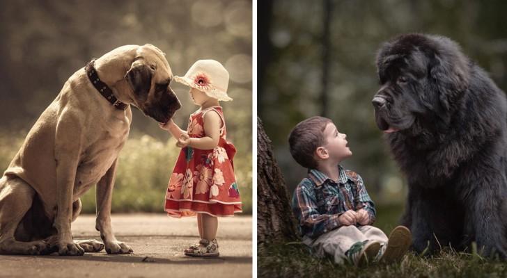 Hele Kleine Kinderen Samen Met Hun Enorme Honden: Deze Foto's Zijn Hartverwarmend