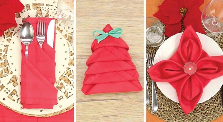 3 façons charmantes de plier vos serviettes et dresser une table parfaite