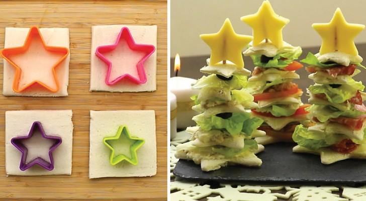 Des sapins en pain de mie: réalisez 3 types d'entrées et surprenez tous vos invités