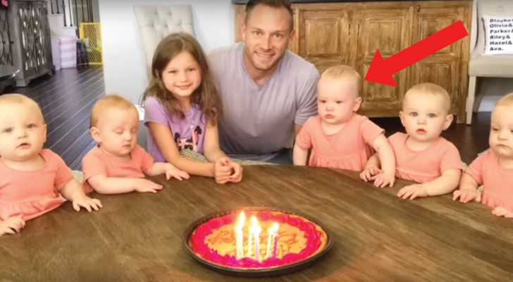A totally unexpected reaction when Dad blows out the candles!