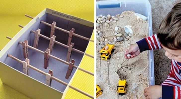 11 giocattoli da costruire a casa usando i materiali più comuni