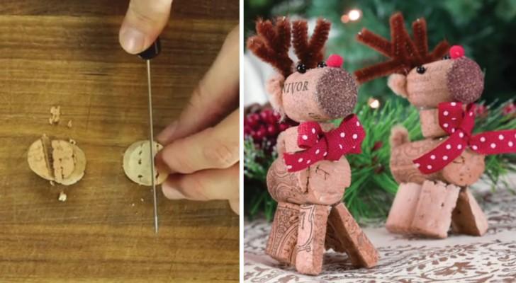 Realizza delle bellissime renne natalizie partendo dai tappi in sughero: scoprite come farlo anche voi