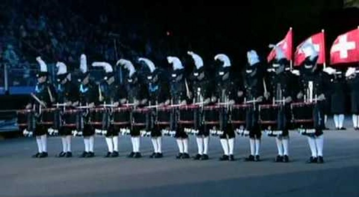 Una impeccabile performance di percussioni