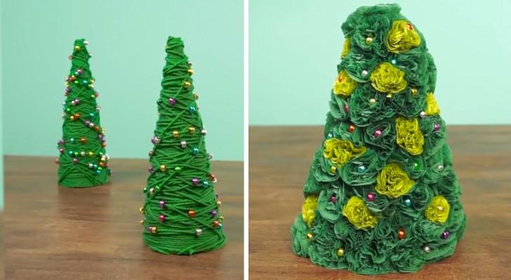 Alberi in miniatura: due idee graziose che renderanno magico il vostro Natale