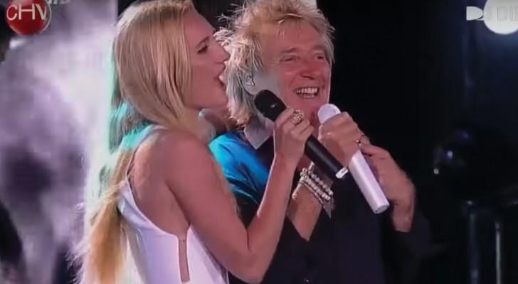 Rod Stewart sube al escenario con su hija: el duo con este famoso tema es increible!