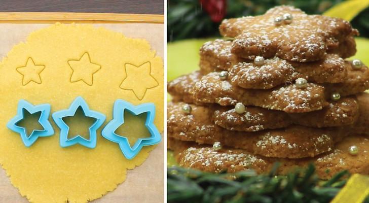 Biscoitos de massa podre em forma de estrelas: uma receita que vai bem em qualquer ocasião!