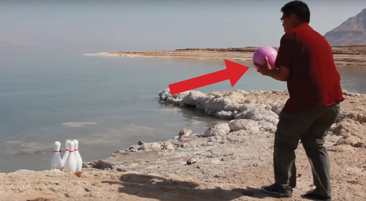Throw a bowling ball into the Dead Sea! See what happens!