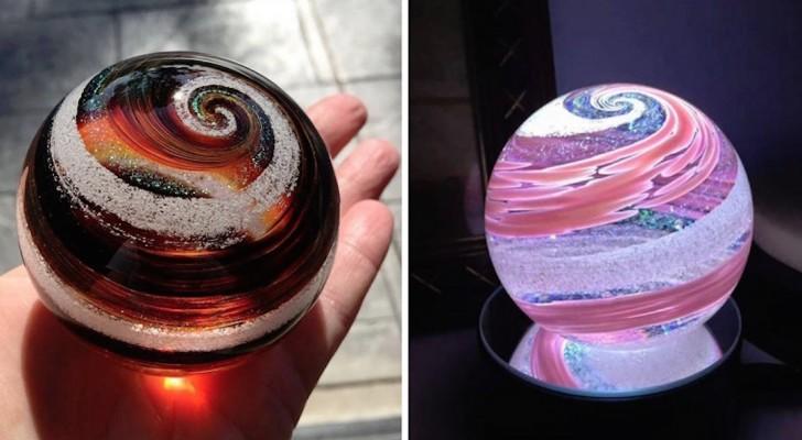 Cette entreprise transforme les cendres du défunt en objets précieux grâce au soufflage artisanal du verre