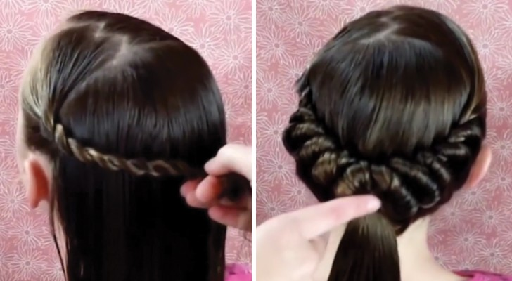 Elegant hairstyling for long hair that you can do at home!