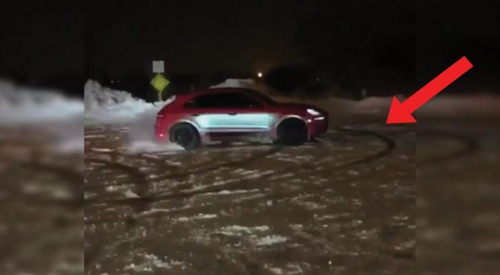 Schnee-Drifting: diese Show eines Lamborghini ist spektakulär
