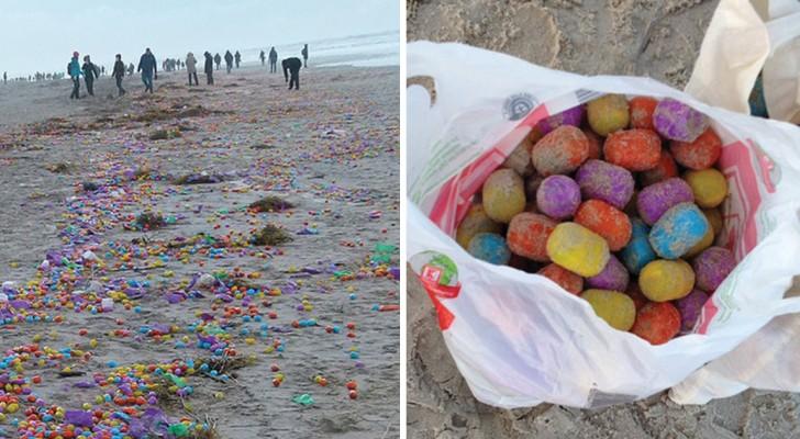 Een Orkaan Treft Een Vrachtschip Waardoor Een Heel Eiland Vol Plastic Surprise-Eieren Komt Te Liggen