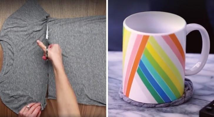 Trasforma delle vecchie magliette in originali oggetti per for Oggetti per la casa originali